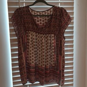 GAP boho sleeveless shirt